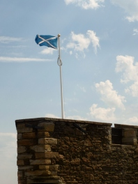 Flag at Blackness Castle