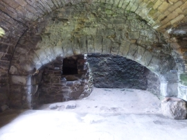 Kitchen fireplace at Aberdour Castle