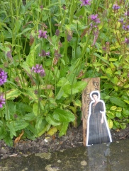 Claire in the Physic garden at Falkland Palace